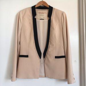 Anthropologie Cartonnier Open Blazer Blush Black S